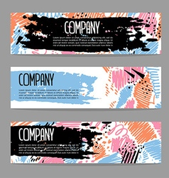 Set of creative artistic banners art backgrounds vector