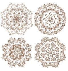 Set of decorative circle design vector
