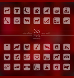 Set of pets icons vector