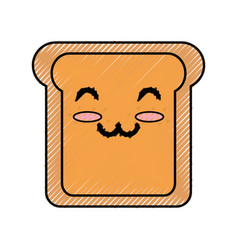 Slice of bread cartoon vector