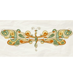stylized dragonfly vector image