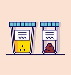 urine and fecal analysis vector image