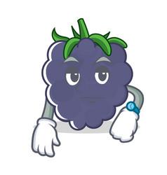 Waiting blackberry character cartoon style vector
