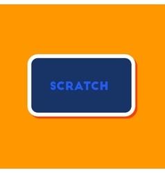 Paper sticker on stylish background scratch card vector