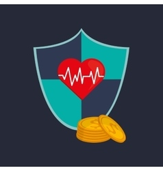 Health insurance related icons image vector