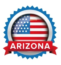 Arizona and usa flag badge vector