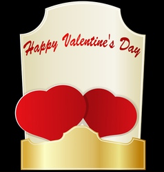 Two red hearts on Valentines Day eps10 vector image