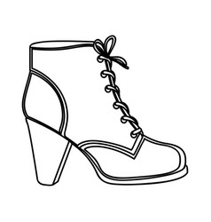 monochrome silhouette of leather high heel shoe vector image