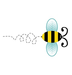 Cute bee cartoon character vector