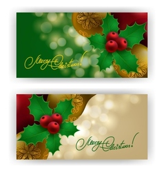 Christmas Background with baubles for inviations vector image
