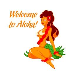 Aloha girl vector