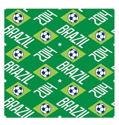 Brazil football seamless pattern vector image