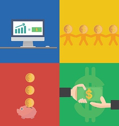 Financial concept flat design vector