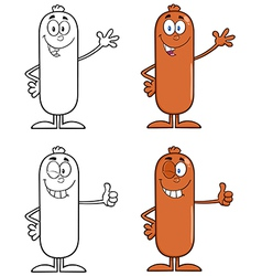 Sausage cartoon vector