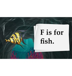 Letter F is for fish vector image