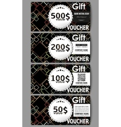 Set of modern gift voucher templates material vector