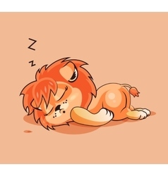 Lion cub asleep vector