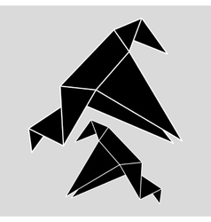 Flat of origami design vector