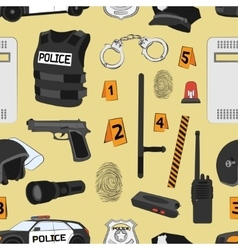 Police Safety concept pattern vector image