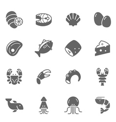 Icon set - raw food material vector image