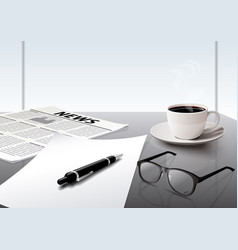 business working in the office vector image