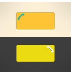 Call center banner Internet phone service button vector image