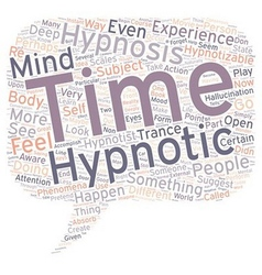 Can you be hypnotized text background wordcloud vector
