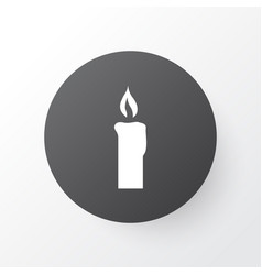 Candle icon symbol premium quality isolated fire vector