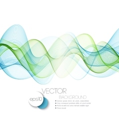 Color abstract waves vector image vector image