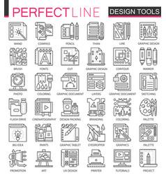 Design tools outline mini concept symbols graphic vector