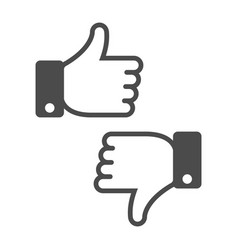 dislike like icon vector image vector image
