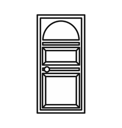 Door with an arched glass icon vector image
