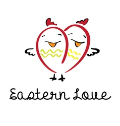 eastern love vector image vector image