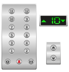 elevator buttons panel vector image