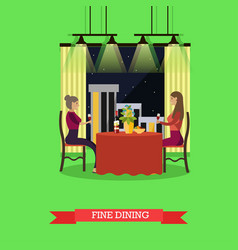 Fine dining concept in flat vector
