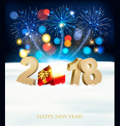Happy new year background with 2018 magic box and vector