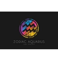 Horoscope symbol Zodiac aquarius logo Zodiac vector image