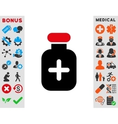 Medication Vial Icon vector image