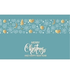 Merry Christmas and Happy New Year luxury gold vector image vector image