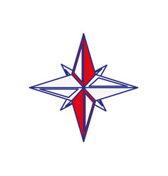 Navigation star icon vector