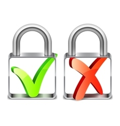 Padlocks with Check Symbols vector image