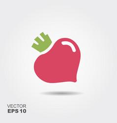 Purple beet icon logo fresh vegetarian concept vector