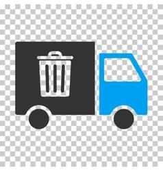 Rubbish transport van eps icon vector