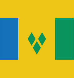 St vincent amp the grenadines flag for vector