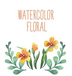 watercolor floral bouquet vector image