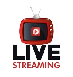 Tv video play live streaming graphic vector