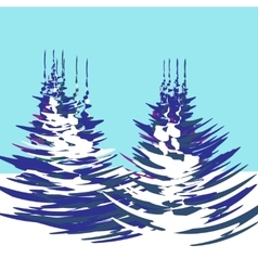 Christmas new year the stylized image of trees vector