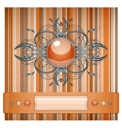 Orange and gray background with pattern vector