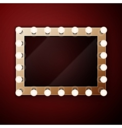 Make up mirror with light bulbs vector