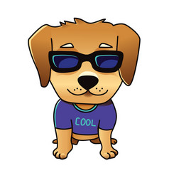 cute cool dog vector image